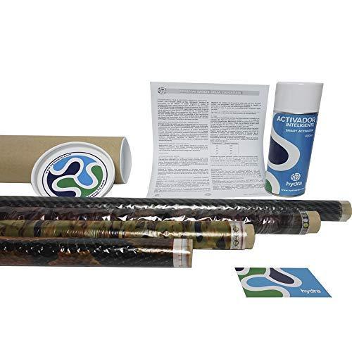Mini kit hidroimpresion hidrografía activador spray 400ml 4 films 50x100cm y manual básico hydrographics