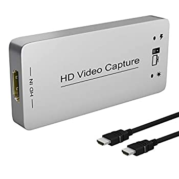 HDMI Capture Dongle Adapter Card HDMI to USB 3.0 Full HD 1080p 60FPS Live Streaming Game Capture Video Grabber for PS4 Xbox One 360 Drive-Free Compatible with Linux/Mac OS/ windows10/7/xp DIGITNOW