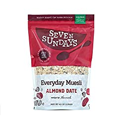 No added sugar - sweetened only with fruits, our muesli has ½ the sugar of leading granolas and oatmeal. 8g plant-based protein - More protein than sugar in a breakfast cereal? Say what?! you betcha. Sustainably-sourced and packaged - For us this mea...