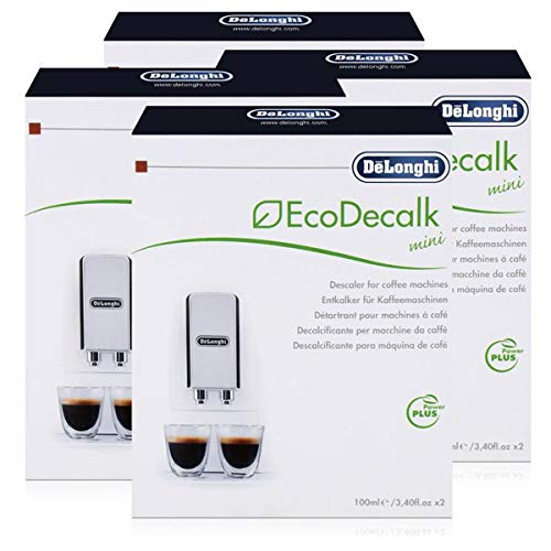 4x Delonghi Entkalker Eco Dekalk mini 200ml für Kaffee Espresso Vollautomaten