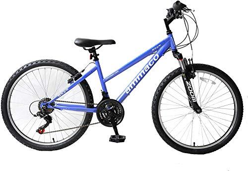 Ammaco Skye 26' Wheel Womens Mountain Bike Front Suspension 16' Frame 21 Speed Purple