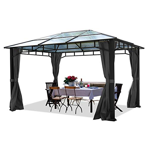 Toolport Alu Deluxe 3m x 3m Garden Gazebo With Polycarbonate Roof