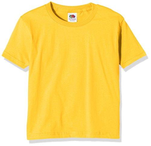 Fruit of the Loom Ss124b Camiseta, Yellow (Sunflower Yellow), 3-4 Años para Niñas