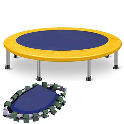 ZXQZ Trampolin, faltbar, Mini-Fitness-Trampolin, tragbar, klein, für drinnen und draußen, Aerobic-Trampolin für Erwachsene und Kinder, gelb