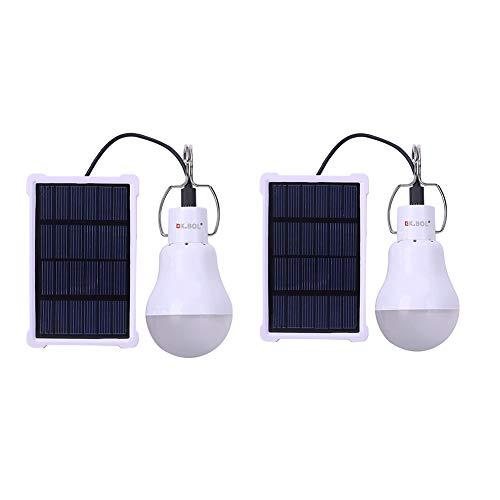KK.BOL Bombilla solar portátil recargable lámpara solar para interiores y exteriores, pesca de emergencia, camping, gallinero, lámpara de casa de mascotas (2 piezas S1500)