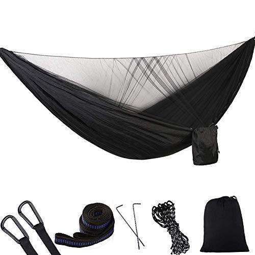 KSITH Automatische Sneldrogende Muggennet Hangmat, Nylon Draagbare Parachute Doek Camping Enkel Dubbele Outdoor Hangmat, Geschikt voor Backpacking