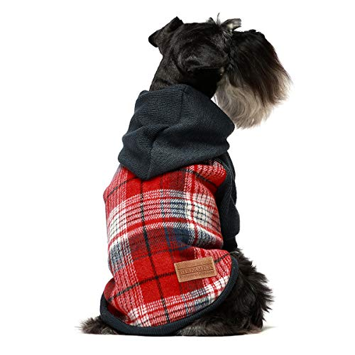 Fitwarm Knitted Pet Clothes Dog Sweater Hoodie Sweatshirts Pullover Cat Jackets Red Medium