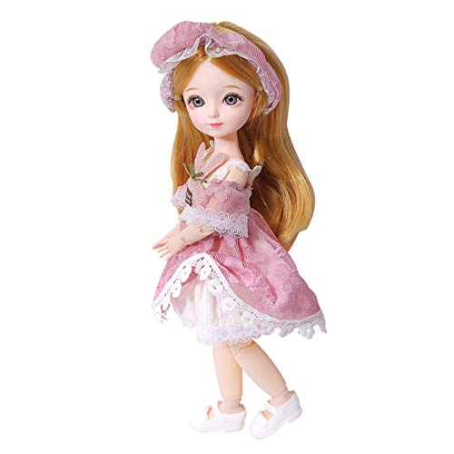 AIflyMi 3D Doll Princess Set Sicheres langlebiges Dress Up Girl Toy Geschenk mit beweglichen Gelenken Rapunzel Fashion Doll, Fashion Fairytale DIY Geburtstagsspielzeug Geschenk für Kinder ab 3 Jahren