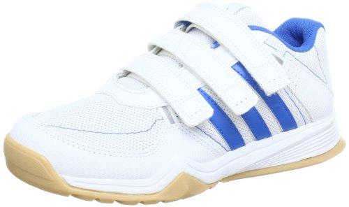 adidas Performance GymPlus CF K G62081, Unisex-Kinder Gymnastikschuhe, Weiß (RUNNING WHITE FTW/ BLUE F12/METALLIC SILVER), EU 28  (UK 28)