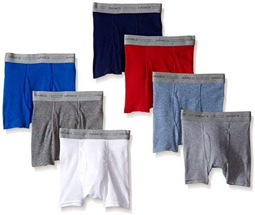 Hanes Toddler Boys Dyed Boxer Briefs Assorted 7-Pack Large