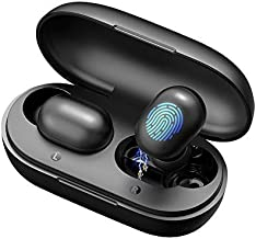 Bluetooth 5.0 True Wireless Earbuds, Jeabo GT1 Headphones with Easy Connection,Smart Touch Control,7. 2mm Dynamic Driver,I...