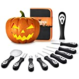 2020 Professional Halloween Pumpkin Carving Kit, Heavy Duty Stainless Steel Carving Tools Set for Halloween Decoration, Sturdy Sculpting Jack-O-Lanter Knife Set