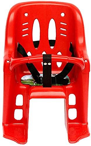 X&Y Bicycle Kids Niño niño pequeño Montaje en la portadora de bebé, cinturón de Seguridad Integral, con bastidores de barandilla, niños en Forma 5 Meses - 6 años (Color : Red 2)