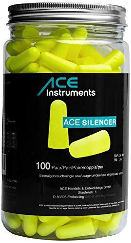 ACE Silencer Tapones Oídos de Espuma (100 Pares) - Proteccion Auditiva