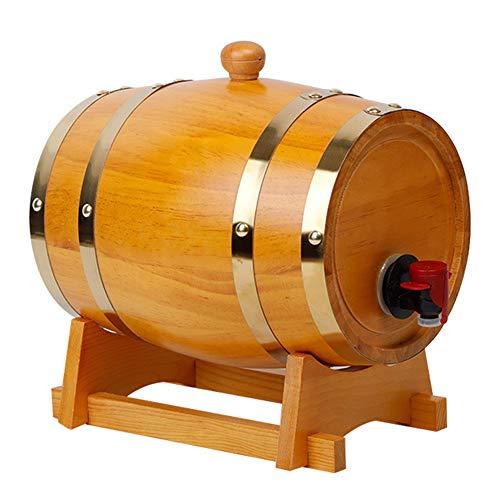 Barril Dispensador De Vino Barril De Madera Hogar Balde Artesanal De Roble Kit De AñEjamiento para Cognac Ginebra Ron Sangria Licor Cerveza 3L 5L 10L 20L 30L,3,20L