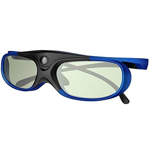 HUYAN1 DLP Link 3D Brille Ultra Clear HD 144 Hz 3D Active Wiederaufladbare Shutter Brille für alle 3D DLP Beamer - Acer, ViewSonic, BenQ Vivitek, Optoma, Panasonic, Dell, Viewsonic etc