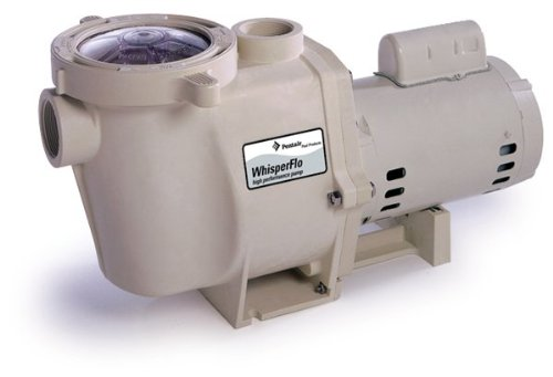 Pentair 011515 WhisperFlo High Performance Energy Efficient Single Speed Full Rated Pool Pump, 2 Horsepower, 208-230 Volt, 1 Phase
