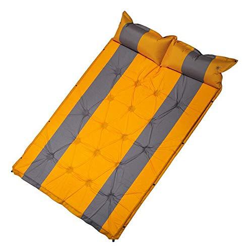 LGFV Tapis de Camping Matelas de Camping Ultra-Léger avec Matelas de Couchage Gonflable et Sac de Transport Compact pour La Randonnée Sportive en Plein Air,Jaune