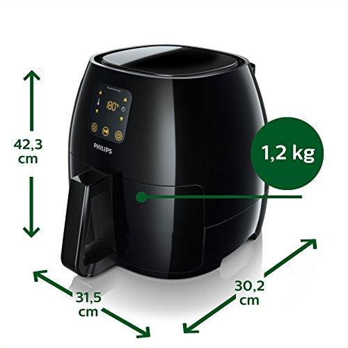 Philips HD9240/90 Airfryer XL Heißluftfritteuse, 2075 W – 2100 W, 1,2kg Kapazität, schwarz - 6