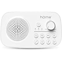 hOmeLabs White Noise Sound Machine, 8 Soothing Sounds, Timer with Auto-Off, Rechargeable Battery and AC Adapter