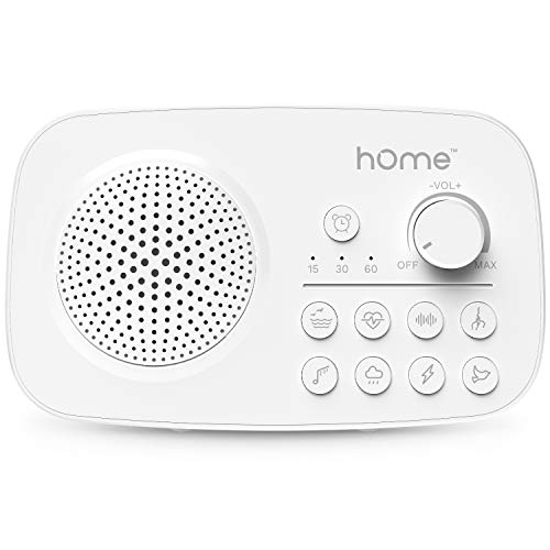 hOmeLabs Portable White Noise Machine - 8 Surprisingly Soothing Sounds for Sleep, Slumber, Siesta or Snooze