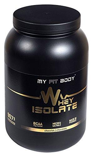 My Fit Body - Whey Isolate Elite - Proteina di Siero di Latte - Ideale per Aumentare la Massa Muscolare- Integratore Sportivo - Proteina in Polvere - Proteina Isolata - Gusto Cioccolato - 907 gr.