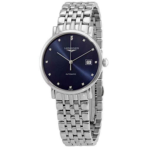 Longines La Grande L48104976 L4.810.4.97.6 - Reloj automático con esfera azul de diamante (37 mm)