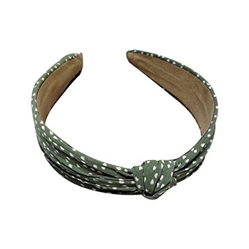 SOLUSTRE Point Noeud Bandeau Tissu Croix Noeud Cheveux Cerceau Bandeau Bandeau Chapeaux Accessoires de Cheveux pour Femmes Filles (Vert)