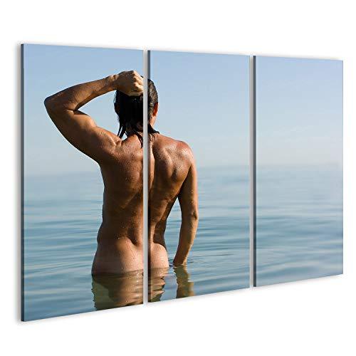 islandburner Bild Bilder auf Leinwand nackter Mann Gay durchtrainiert Poster, Leinwandbild, Wandbilder