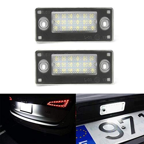 MOLEAQI 2X Luz de matrícula Trasera LED de Error Libre para Au-di...