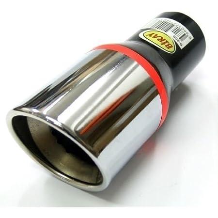 Endrohr Auspuff Blende Auspuffrohr Chrom Auspuffendrohr Universell Schalldampf Endstück Endrohrblende Sportauspuff Optik Tuning 33 48mm Auto