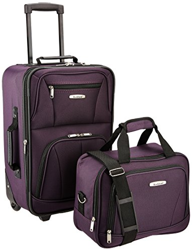 Rockland Fashion Softside Upright Luggage Set, Purple, 2-Piece (14/20)