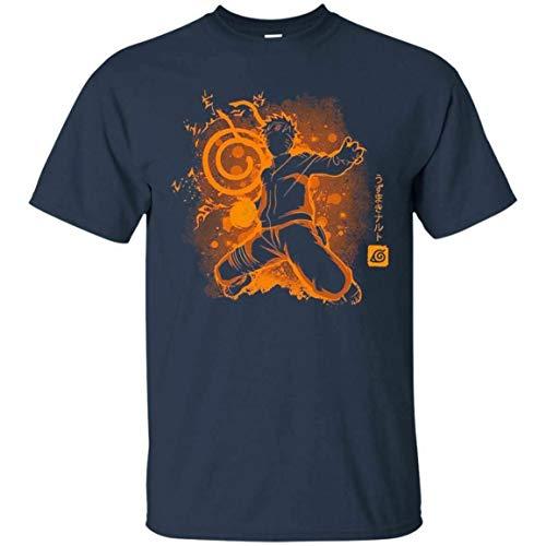 The Jinchuriki T-shirt Naruto Anime Japan Men's Tee Shirt Navy