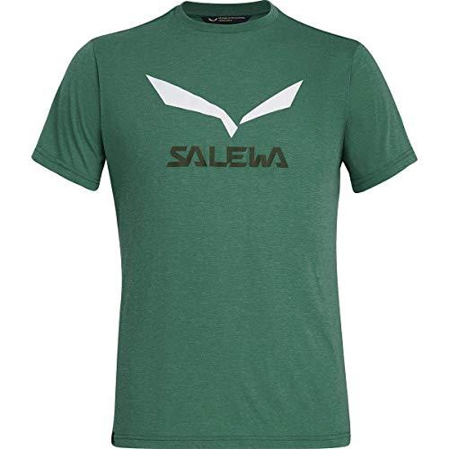 Salewa Solidlogo Dry M S/S T-Shirt, Uomo, Verde (Myrtle Melange), 46/S