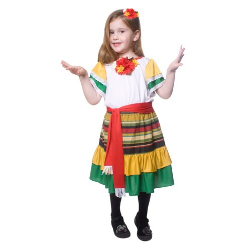 Costume de danseur mexicain Little Girl de Dress Up America
