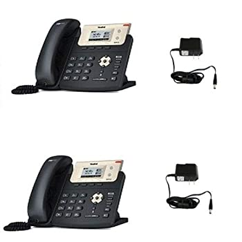 Yealink IP Phone SIP-T21P E2 2-PACK Up to 2 SIP accounts Two-port 10/100M Ethernet Switch HD Voice + 2-UNITS Power Supply PS5V600US Output  5V/600mA