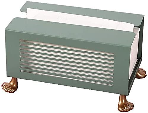 Stbaas Soporte de caja de tejido Caja de pañuelo de hierro Caja Retangle Retanguera de papel Caja de papel Cubierta de pañuelo Partido Papel Toalla Contenedor Oficina Desktop Caja de almacenamiento Ca