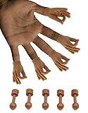 Daily Portable Dark Skin Tone Tiny Hands (The Circle Game Meme) - 5 Pack + 5X Holding Sticks