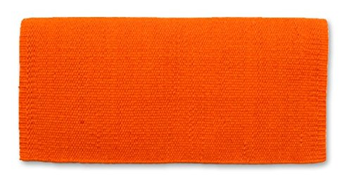 Mayatex San Juan Solid Saddle Blanket, Orange, 36 x 34-Inch