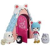 Enchantimals Prawby Polar Bear y Chalet de montaña Muñeca con mascota matrioska sorpresa y casa de juguete Mattel GTM50