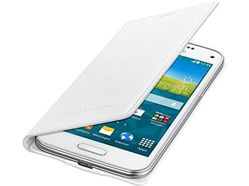 Flip Cover für Samsung EF-FG800BWEGWW G800F Galaxy S5 mini metallic white