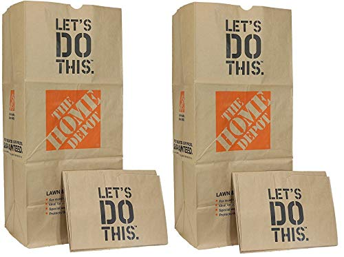 Home Depot Heavy Duty Brown Paper 30 Gallon Lawn and Refuse Bags for Home and Garden (30 Lawn Bags)
