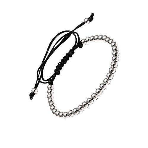 LA FALCONI Jewellery Pulsera de Bolas Roma en Plata, Pulsera Noble para Hombres y Mujeres, Pulsera de Bolas Unisex