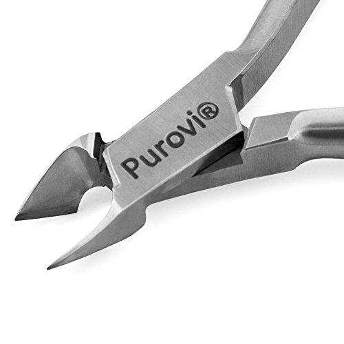 Purovi® TRONCHESINO professionale per CUTICOLE | Tagliaunghie per unghie spesse o incarnite | Spessore 7 mm | Acciaio inox alta qualità