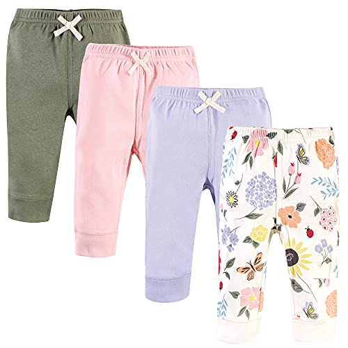 Touched by Nature Pantalones Unisex de algodón orgánico para bebé, Flutter Garden, 3 Años/4 Años