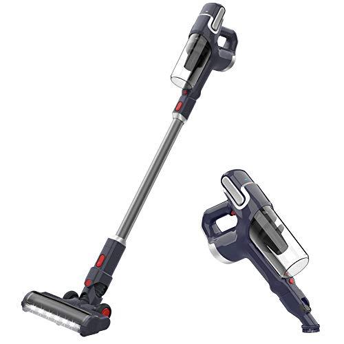NOVETE Cordless Vacuum Cleaner, 2 in 1 Stick Vacuum with...