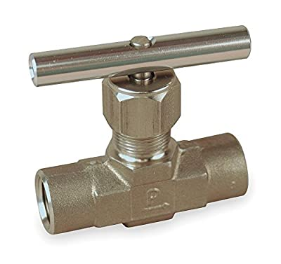 Needle Valve, Straight, 316 SS, 1/2 In, FNPT by PARKER