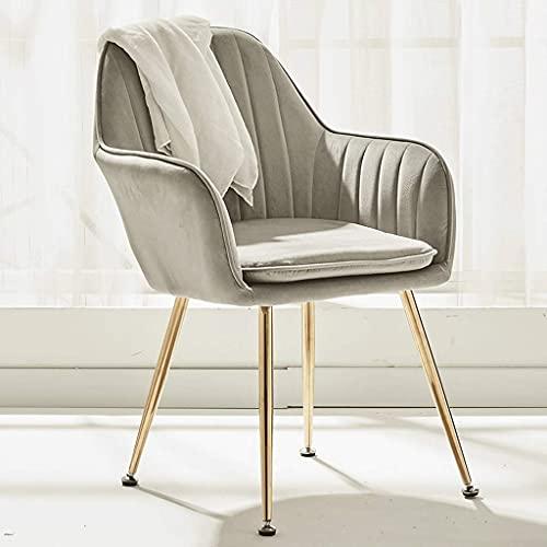 WYBW Silla de comedor para el hogar, silla de comedor de estilo nórdico, sillón de uñas, silla de maquillaje de corazón para niña, sofá para el hogar, salón perezoso con brazo, silla de cocina de tel