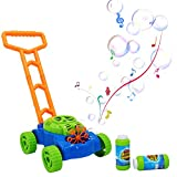 HEDGBOBO Music Bubble Lawn Mower Electronic Bubble Blowing Mover Outdoor Push Toys