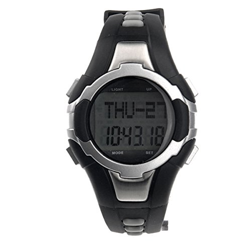 1005 All-in-one Waterproof Strapless Heart Rate Monitor Calorie Counter Digital Watch with Pedometer /Stopwatch (Silver)